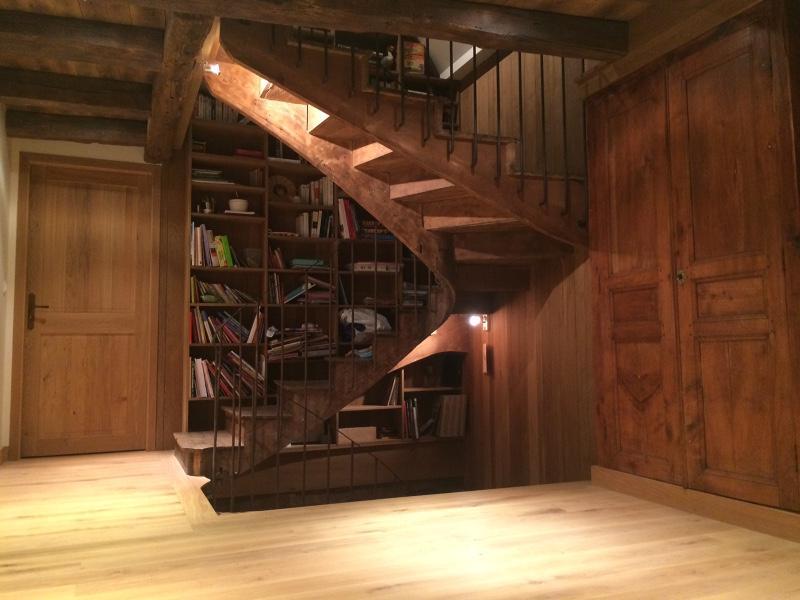 Escalier en chêne restauré