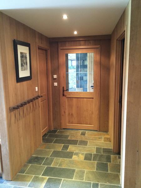 couloir entrée en bois
