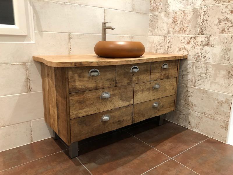 meuble chêne salle de bain