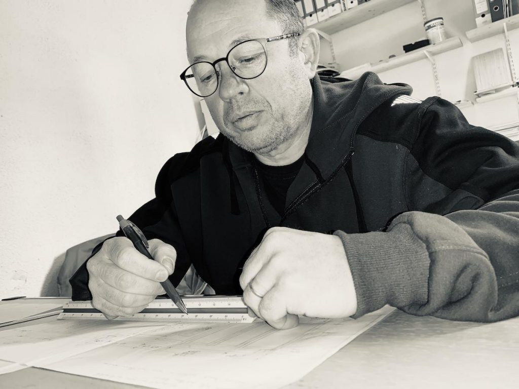 Serge Comby au travail