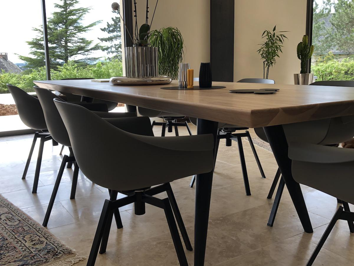 Table rectangulaire en frêne
